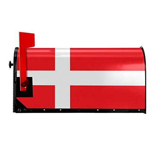 Odeletqweenry Denemarken Deense vlag afdrukken brievenbus cover magnetische brievenbus wraps post brief box cover standaard grootte 21 x 18 inch waterdichte canvas postbus cover