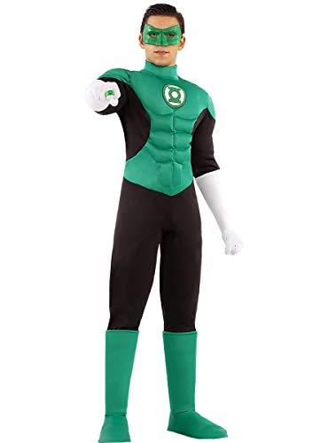 Funidelia | Disfraz de Linterna Verde Oficial para Hombre Talla L ▶ Superhéroes, DC Comics, Justice League, Green Lantern - Color: Verde - Licencia: 100% Oficial