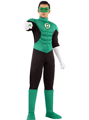Funidelia | Disfraz de Linterna Verde Oficial para Hombre Talla S ▶ Superhelden, DC Comics, Justice League, Green Lantern