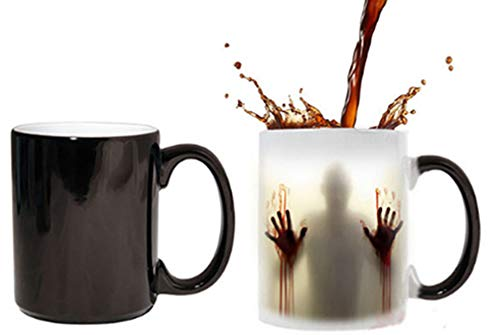 Anjiyoyo The Walking Dead Mug Color Changing Heat Sensitive Ceramic 11oz Coffee Mug Surprise Gift