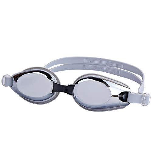 Galvanik Brille Wasserdicht UV-Schwimmbrille Beschlägt Brille Erwachsenen Brille (Color : Grey)