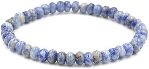 JPSOUP Pulsera de Piedra Mujer, 7 Chakra Piedra Natural Beads Azul Semi-Precioso Brazalete Elástico Hombres Joyería Yoga Energía Reiki Reza Charm Diffuser Regalo para Padre y Novio