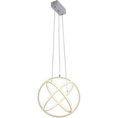 Einrichtung Dekoration Kronleuchter Nordic LED Energiespar-Kronleuchter Erdform Acryl Lampenschirm Pendelleuchte für Esszimmer Wohnzimmer Kaffee 98W Pendelleuchte (Farbe: Warmes Licht)