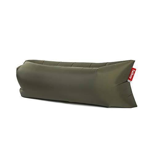 Fatboy Lamzac The Original Version 1 Inflatable Lounger with Carry Bag, Inflatable Couch for Indoor or Outdoor Hangout or Inflatable Lounge Air Chair - Olive Green
