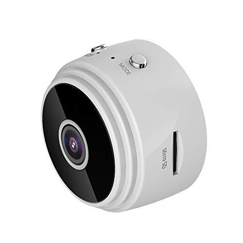 Lilon Mini cámara Oculta inalámbrica HD 720P, cámaras de Seguridad remotas WiFi para el hogar, detección Inteligente de Movimiento, función magnética, cámara espía de visión Nocturna