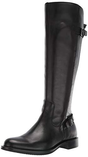 ECCO Women's Sartorelle 25 Tall Buckle Knee High Boot, Black, 39 M EU (8-8.5 US)