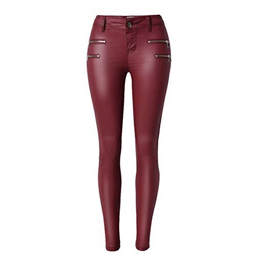 KRILY dames leren look broek nat look legging Slim fit jeans maten 6 8 10 12 14 16