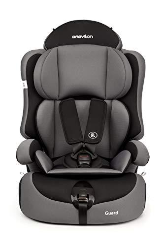 BABYLON silla bebe coche Guard silla de coche grupo 1 2 3, silla de bebe para coche Niños 9-36 kg silla coche bebe(1 a 12 años). silla coche sin isofix fabricada en Europa ECE R44 /0 gris