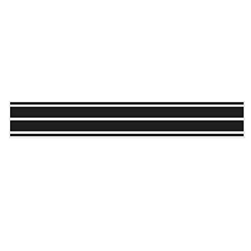 Alamor 4Pcs Bonnet Hood Stripes Car Decal Stickers für Benz A C GLA GLC CLA W176 C117 W204 W205 - Matt Black