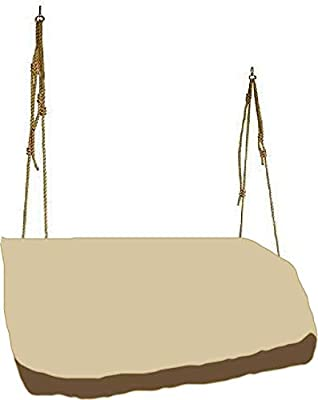 "boyspringg Hanging Swing Cover Patio Hammock Glider Cover Porch Swing Canopy Replacement Cover Patio Furniture Cover for Garden Courtyard 56""Lx32""Wx25""H"