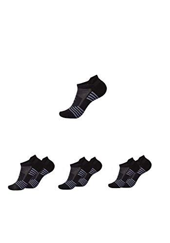 Atmungsaktive Sport- und Laufsocken für Damen und Herren - 3Paar - Ergonomisches Design für maximale Performance beim Joggen, Gym, Wandern, Radfahren und Alltag mit Anti-Schweiß-Technologie (3, L)