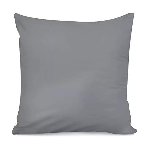Amzbeauty - Fundas de almohada para sofá, dormitorio, sala de estar, coche, color gris