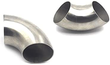Ting Ao 2pcs Spiffy 3''/76mm 201 Stainless Steel 90 Degree Bend Elbow Exhaust Pipe Car accessories