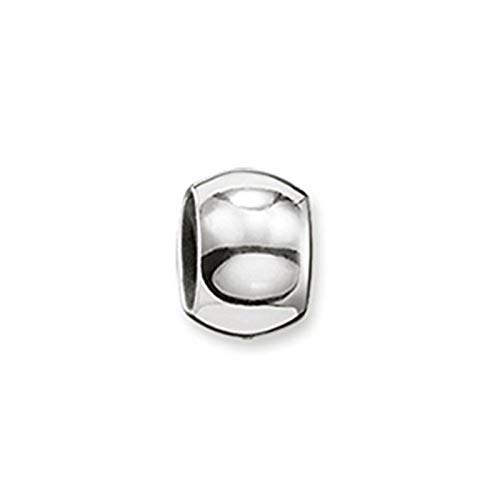 Thomas Sabo Damen Herren Stopper für Kette Armband Karma Beads 925 Sterling Silber Silikon KS0002-585-12