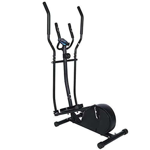 EBTOOLS Magnetischer Ellipsentrainer Elliptical Crosstrainer Heimtrainer Ergometer Stepper Sport-Fitnessgeräte mit digitalen LCD-Monitor, 155.5 x 79.5 x 51 cm(schwarz)