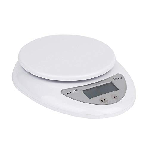 Balanza Alimentos Electrónica conWH-B05 5kg 5000g / 1g Cocina Digital Dieta de alimentos Báscula Postal Básculas de peso electrónicas Balance de ponderación LED Electrónico 2018 NUEVO