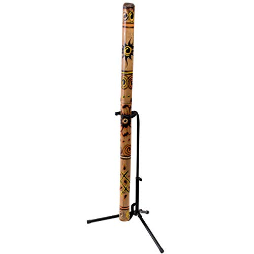 DIDGERIDOO STAND: Display Standard for your didgeridoo (didgeridoo not included) FITS ALL SIZES: suitable for all sizes didgeridoos SPECIFICATIONS: width holder 3,2''. Height is adjustable MATERIAL: metal, color black WEIGHT: 1 kg