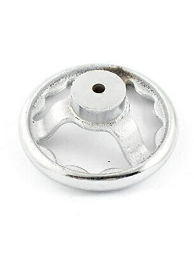 QWXX Lenkrad 120mm 3 sprach runder Handrad silberner Ton für die industrielle Drehmaschine Metall Material
