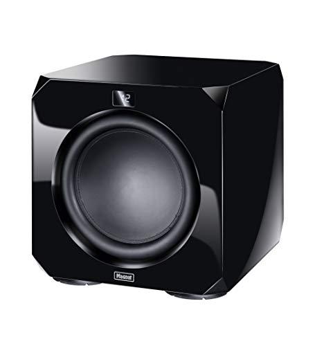 Magnat Omega CS 12, schwarz - leistungsstarker Aktiv-Subwoofer für Tiefe und präzise Bässe für Heimkino und Musik - Elegantes, Zeitloses Design mit hervorragendem Sound, Farbe:Schwarz