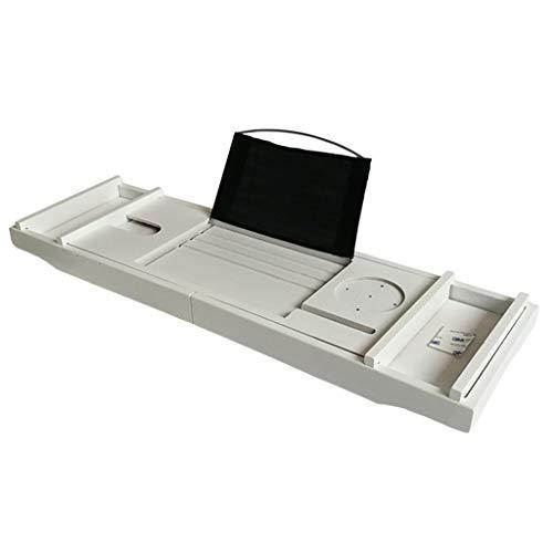 Ponts de baignoire Étagère de baignoire étagère support à palette support de rangement multifonctionnel antidérapant télescopique support étanche support de téléphone pour baignoire