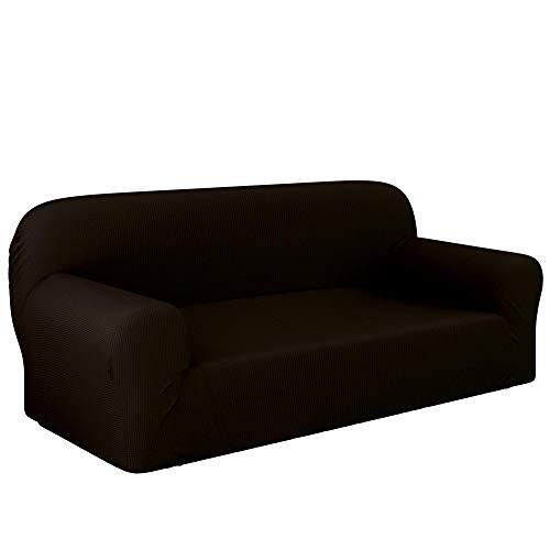 Dreamzie - Sofabezug 3 Sitzer Elastische - Braun - Oeko-TEX - Sofa Überzug 60% Recycelter Baumwolle - Made in Europe