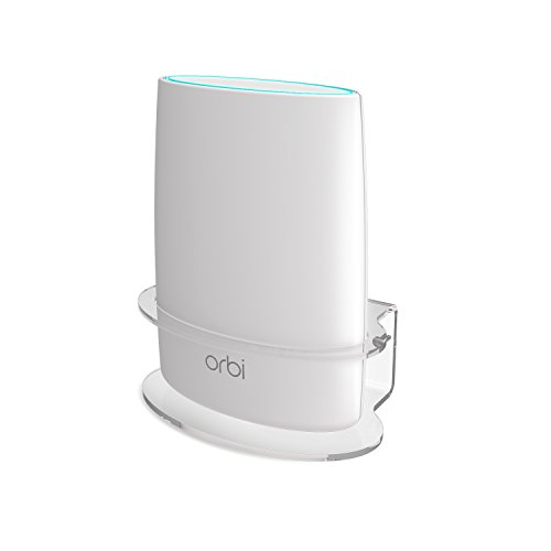Netgear Orbi Wall Mount, BASSTOP Sturdy Clear Acrylic Wall Mount Bracket Compatible with Orbi WiFi Router RBS40, RBK40, RBS50, RBK50, AC2200 AC3000 Tri Band Home WiFi Router- (1 Pack)
