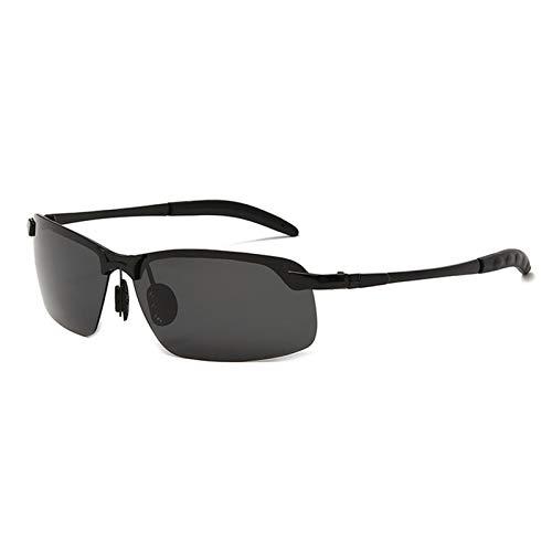 AKlamater Gafas de sol polarizadas que cambian de color para hombre día y noche, polarizadas fotocromáticas para deportes al aire libre (Negro4)