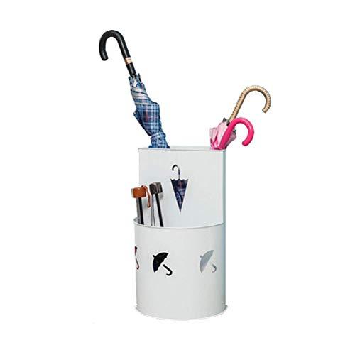 NMDCDH Paragüero Estantes para Paraguas Hierro, Soporte para Paraguas de Gran Capacidad, Oficina en casa Decoración de café Cubo de Almacenamiento Caja de Paraguas, 2 Colores, 50x32 cm (Color: Blan
