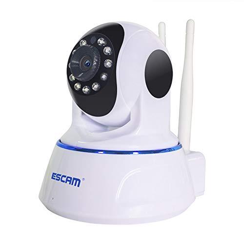 ESCAM QF003 - Cámara IP WiFi HD 1080P, IR-Cut, detección de movimiento, panorámica/inclinación, antena doble, conversación bidireccional,