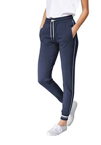 DOTIN Damen Jogginghose Sporthose - Baumwolle Lange Freizeithose Fitnesshose High Waist Traininghose Sweathosen für Frauen Jogging Fitness Laufhose