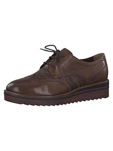 Tamaris 1-1-23729-23, Zapatos de Cordones Derby Mujer, Marrón (Chestnut/Croco 442), 40 EU