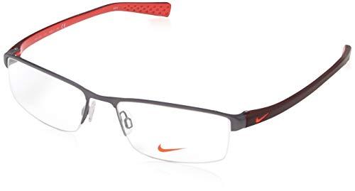 Nike 8097 070 55 Lunettes de Soleil, Rouge (Satin Gunmetal/Team Red), Homme