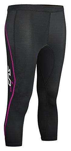 Sub Sports Women's Elite RX Graduated Compression Tights 3/4 schwarz Black/Pink M