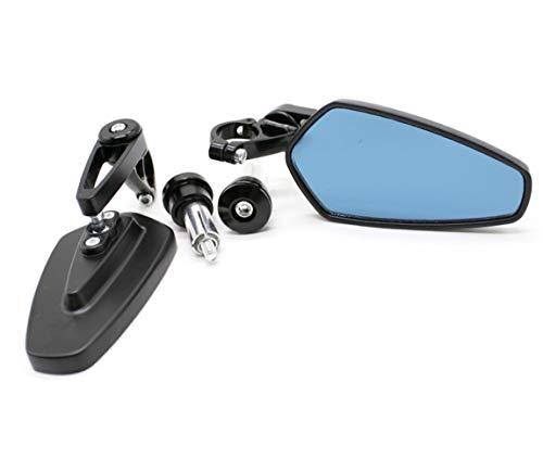 SSGLOVELIN Handel Bar Ends Motorrad-Spiegel Lenkerenden Rückspiegel Seitenspiegel Fit for Kawasaki Z800 Z750 Z650 Z900 Z300 Z1000 (Color : Black)