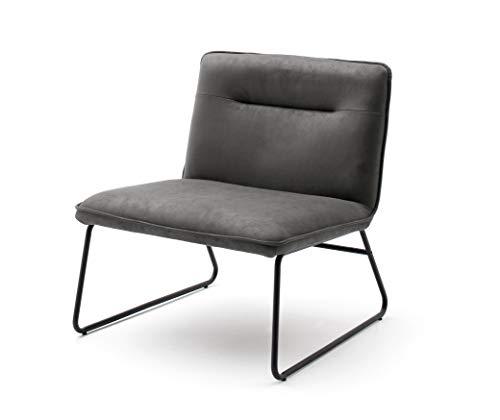 Robas Lund Sessel, 100% Polyester, Anthrazit, BxHxT 72x77x72 cm