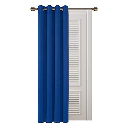 Deconovo Blickdichte Gardinen mit Ösen Verdunkelungsvorhänge Wohnzimmer 183x132 cm Königsblau