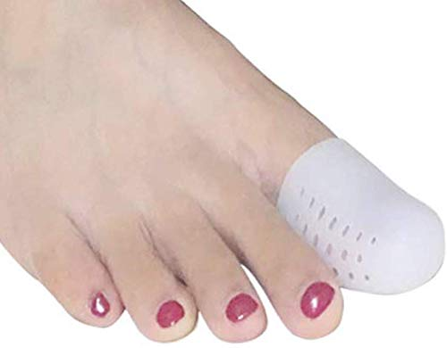ASEDRF Gel Big Toe Caps Covers, Upgraded Version with Vent for Big Toes, Toe Covers,Toe Protectors,Toe Sleeves,for Corns Remover, Callus Cushion, Bunion Treatment,10pcs