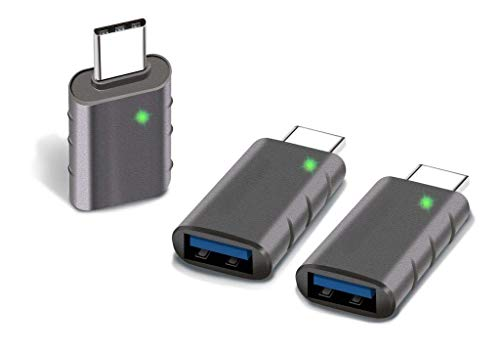 ATOPAL USB C to USB Adapter (3 Pack), Thunderbolt 3 to USB 3.0 Adapter Compatible with MacBook Pro 2019 and Before, MacBook Air 2020, iPad Pro 2020, Dell XPS and More Type C Devices, Space Grey
