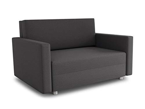 Sofa Pura Maxi mit Schlaffunktion - Schlafsofa mit Bettkasten, Sofagarnitur, Bettsofa, Wohnlandschaft, Couch, Polstersofa (Dunkelgrau (Suedine 36))