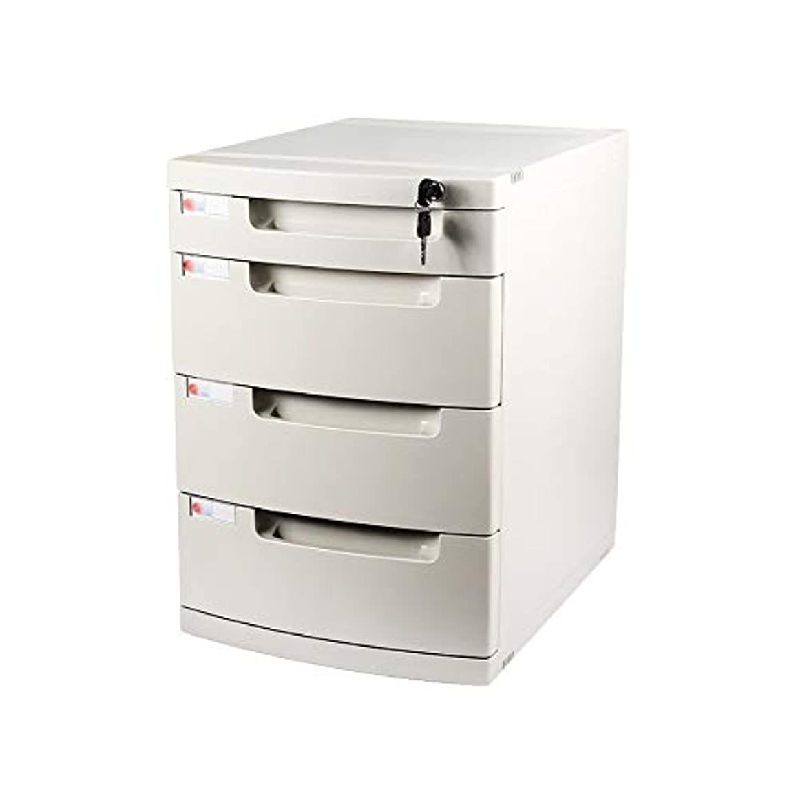 Bxwjg 4-Layers Desktop File Cabinet Lockable Data Office Storage Drawer Confidentiality Office Desktop Drawer Organizer (Size:11.8in15.8in17.2in) (Color : A1)
