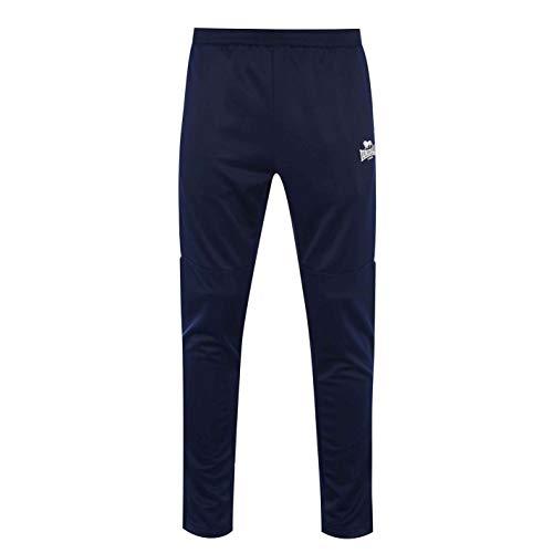 Lonsdale Herren 2 Streifen Trainingshose Taschen Marineblau 2XL