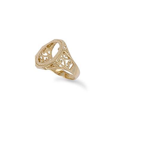 Ring Gold 9 Karat (375) Zehnter Krugerrand