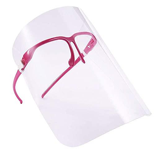 ZXM Protector Facial Completo, mascarilla Transparente a Prueba de Aceite de Cocina Ajustable, máscara antiniebla de Doble Cara y antideslumbrante a Prueba de Aceite
