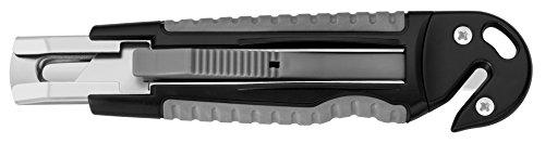 Westcott 8402200Cutter de sécurité professionnel Boîtier en plastique Softgrip, gris/noir, largeur lame 18mm