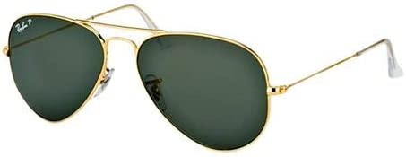 Ray-Ban Aviator Unisex Sunglasses - Rb3025-001-58 58, Green Lens