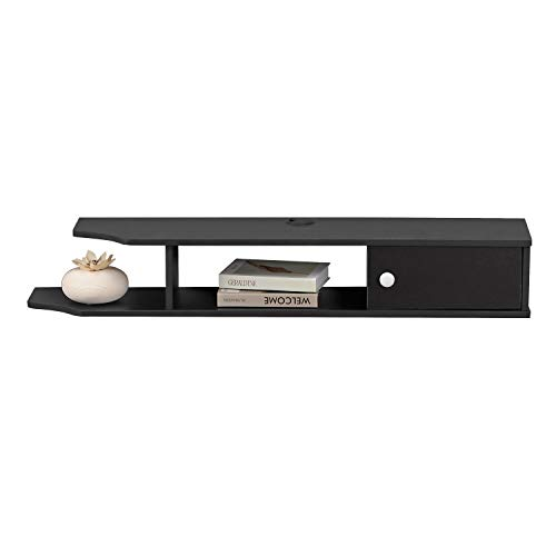 Bizzoelife Floating Media Console TV Stand Wall Mounted TV Console 43 Inches for Cable Boxes Router...