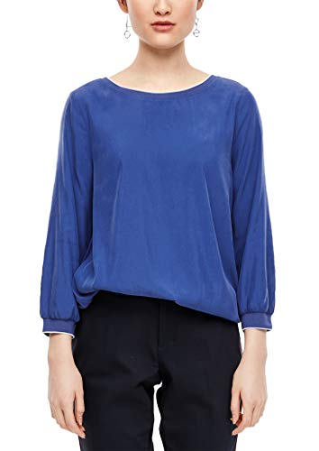 s.Oliver RED LABEL Damen O-Shape-Bluse mit 3/4-Ärmeln cobalt blue 42