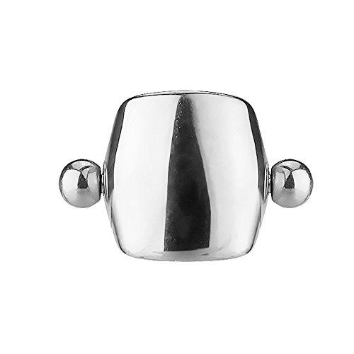 Piersando Tragus Helix Ohr Piercing Cartilage Knorpel Stab Stecker 316 L Chirurgenstahl ohne Steine mit Schild Schirm Silber