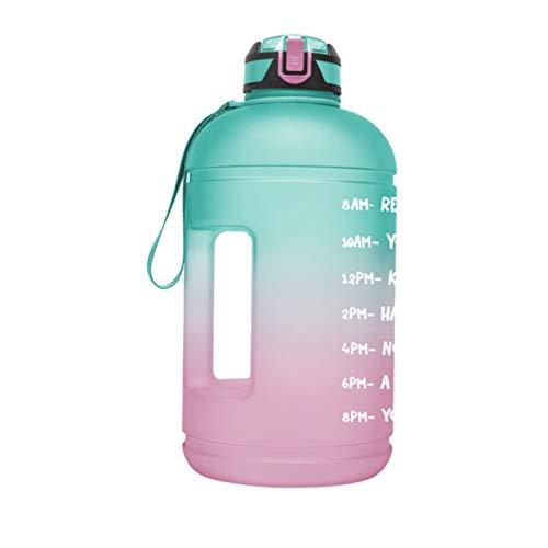 Botella Deportiva -Botella de Agua Deportiva con Marcador de Tiempo Motivacional,1Galón Water Bottle, Botella Agua sin BPA Reutilizable, para Gimnasio,Culturismo,Deportes al Aire Libre,Senderismo