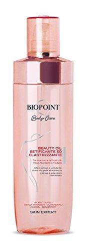 Biopoint Beauty Oil Setificante ed Elasticizzante 250 ml – Oli di Tsubaki, Mandorla e Rosa, Dona Morbidezza, Luminosità ed Elasticità alla Pelle